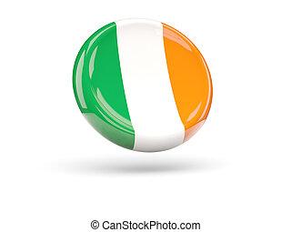 Flag of ireland. Round icon