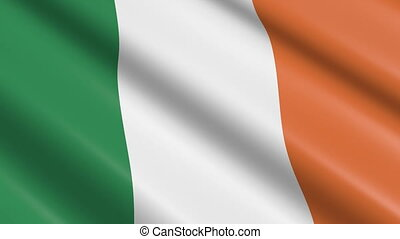 Flag of Ireland (seamless loop) - great for topics like...