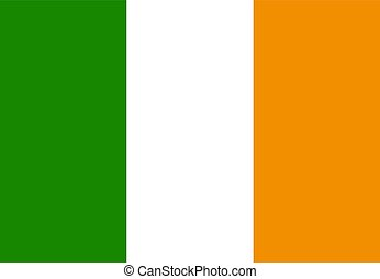 Flag of Ireland. Vector Illustration