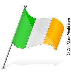 flag of Ireland vector illustration