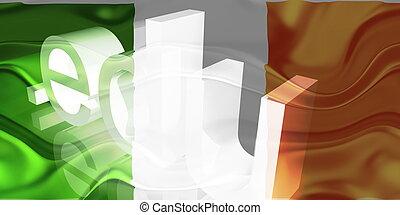 Flag of Ireland wavy education - Flag of Ireland, national...
