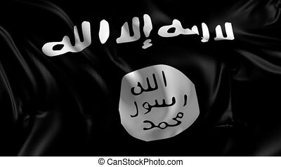 Flag of Isis - 3D animation of the Islamic state of Iraq and...