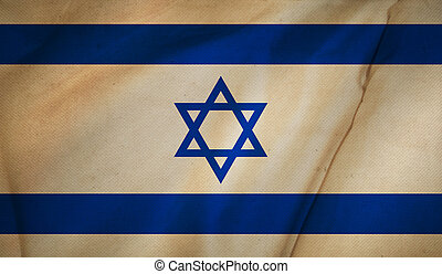Flag of Israel background.