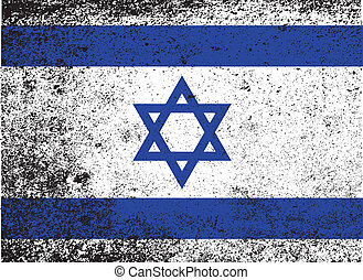 Flag of Israel - The flag of Israel in blue and white with...