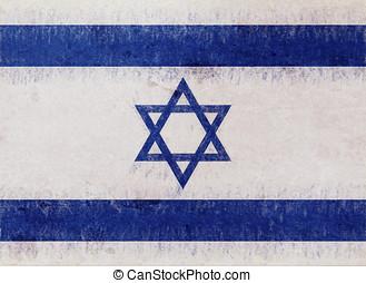 Flag of Israel Grunge.