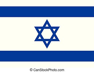 Flag of Israel in official rate and colors, vector