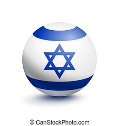 Flag of Israel in the form of a ball