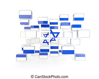 Flag of israel, mosaic background