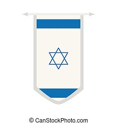 Flag of Israel on a banner