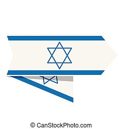 Flag of Israel on a label