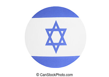 Flag of Israel round icon isolated