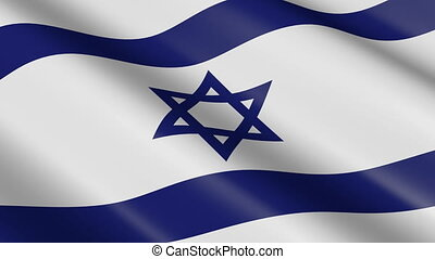 Flag of Israel (seamless loop) - great for topics like...