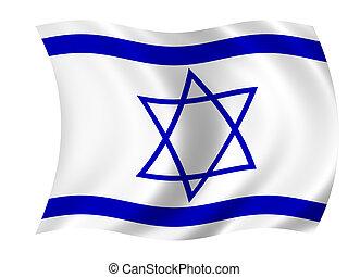 Waving flag of Israel - israeli flag