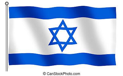Flag of Israel Waving
