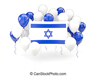 Flag of israel with balloons