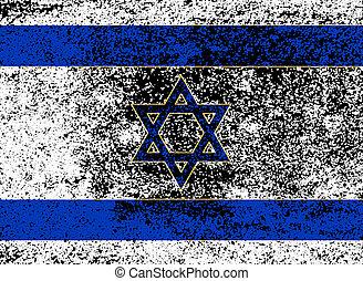 Flag of Israel With Dark Grunge