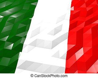 Flag of Italy 3D Wallpaper Illustration
