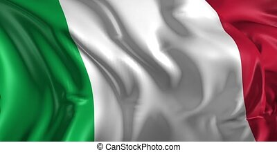 Beautiful 3d animation of The Italy flag in loop mode