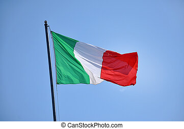 Flag of Italy blowing in the wind