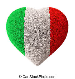 Flag of Italy - Fluffy Heart