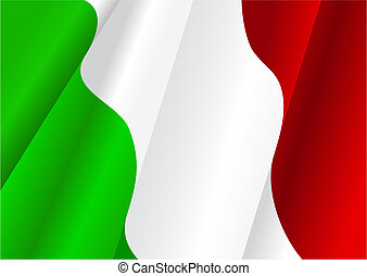 Flag of Italy for design as a background or texture