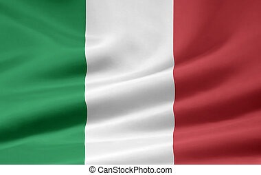 High resolution flag of Italy