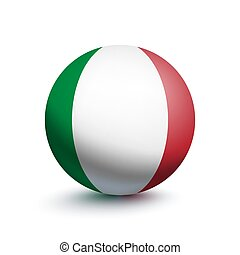Flag of Italy in the form of a ball