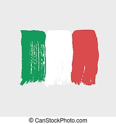 Flag of Italy on a gray background.