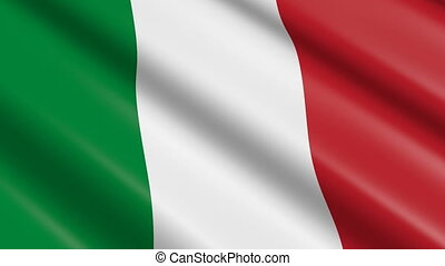 Flag of Italy (seamless loop) - great for topics like...