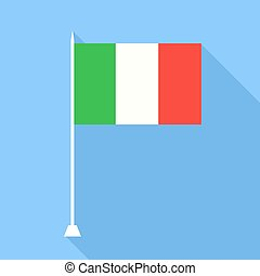 Flag of Italy. Vector illustration.