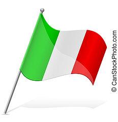 flag of Italy vector illustration
