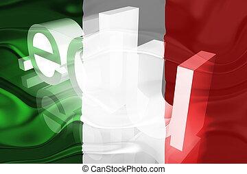 Flag of Italy wavy education - Flag of Italy, national...