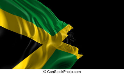 Flag of Jamaica - Beautiful 3d animation of Jamaica with...