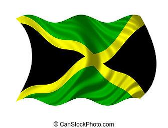 Flag of Jamaica isolated on white background