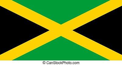 Jamaica vector flag. National symbol of Jamaica