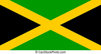 Flag of Jamaica, national country symbol illustration