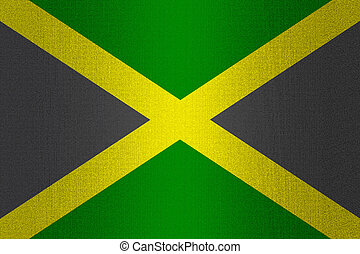 Flag of Jamaica on stone