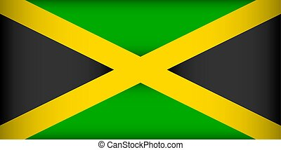 Flag of Jamaica. Vector illustration. Patriotic background.