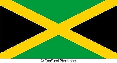Flag of Jamaica Vector illustration