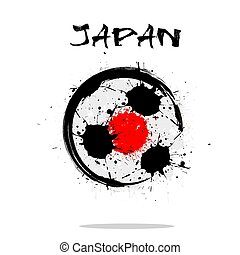 Flag of Japan as an abstract soccer ball