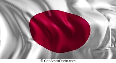 Flag of Japan - Beautiful 3d animation of The Japan flag in...