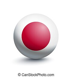 Flag of Japan in the form of a ball