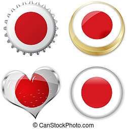 flag of japan in various shapes