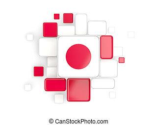 Flag of japan, mosaic background