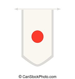 Flag of Japan on a banner