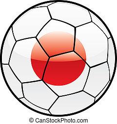 flag of Japan on soccer ball