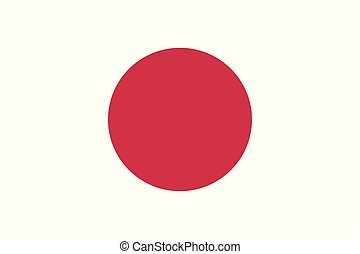 Flag of Japan. Vector flag with official colors and correct proportion.