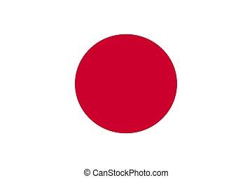 Flag of japan, vector illustration.