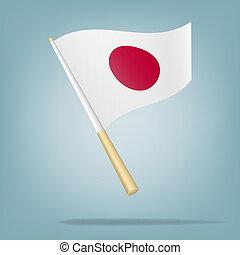 Flag of Japan, Vector illustration