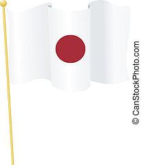 flag of Japan. vector